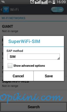 Menggunakan SuperWiFi-SIM