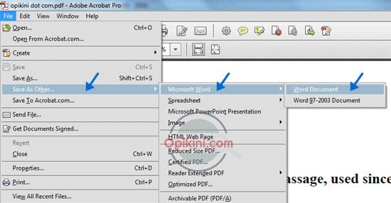 Convert PDF ke Word Dengan Adobe Acrobat PRO