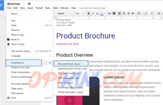 Cara Convert File PDF ke MS Word (.docx) Dengan Google Docs