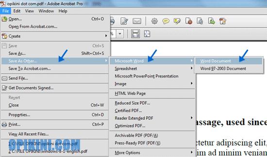 Menggunakan Adobe Acrobat PRO