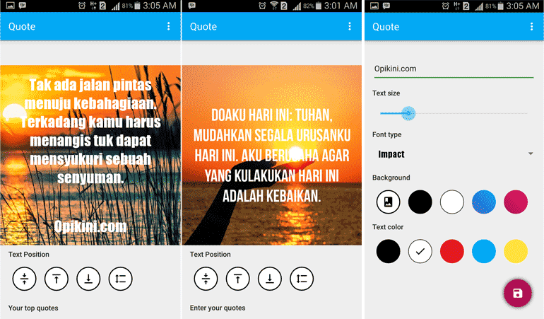 Aplikasi Keren Untuk Membuat Meme, Quote, Menambahkan Text Pada Foto di Android