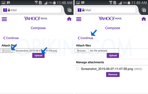 Attach File Yahoo