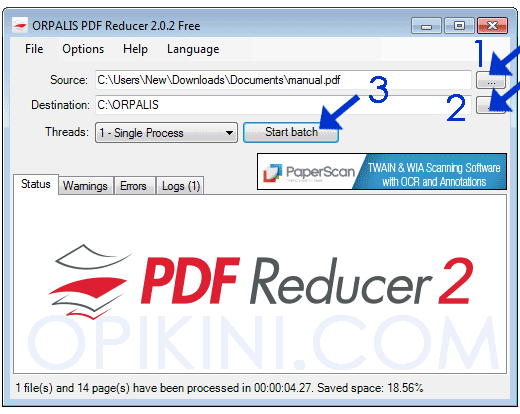 Cara Menggunakan ORPALIS PDR Reducer Free