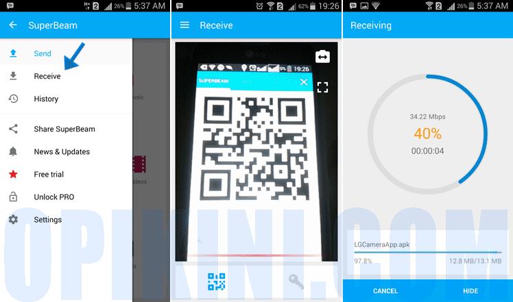 Cara Menggunakan SuperBeam Untuk Transfer File Sesama Android