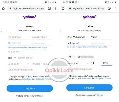 Cara Daftar Email Yahoo Lewat HP Android Terbaru