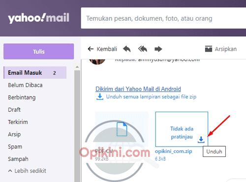 Cara Download File Lampiran Dari Email Yahoo