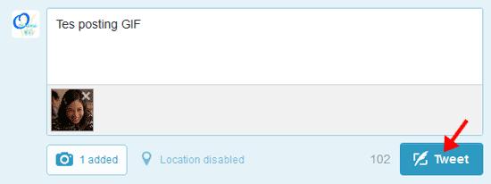 Cara Upload, Posting Status di Twitter Dengan Foto Bergerak – GIF