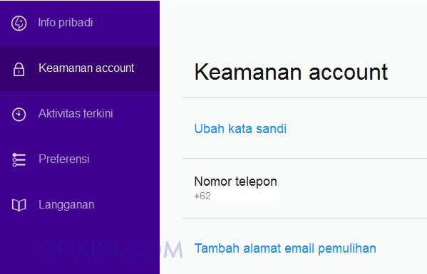 Keamanan account