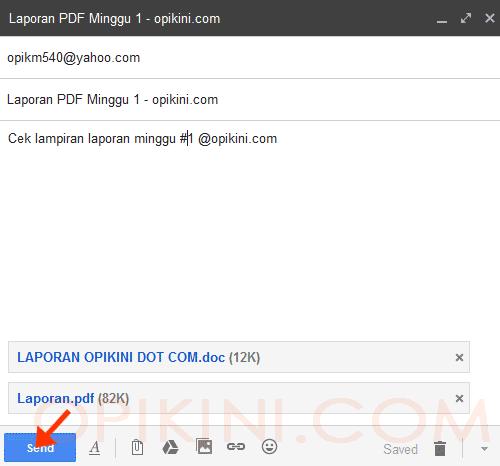 Cara Kirim Email Dengan Lampiran Lewat Gmail di PC