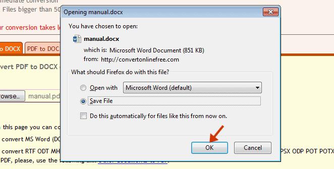 Mengubah PDF ke Docx