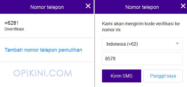 Nomor Pemulihan Yahoo