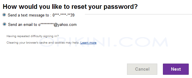 Reset Password Yahoo Mail