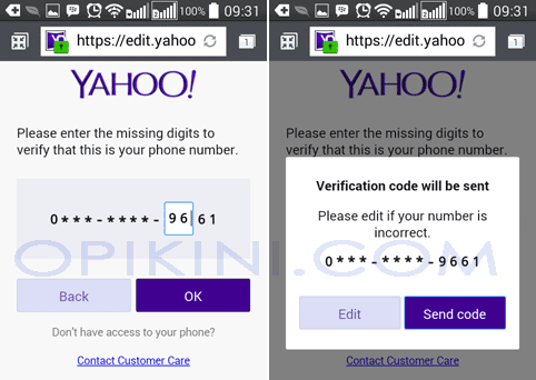 masuk yahoo mail lupa password