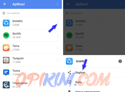 Cara Share/Transfer File APK (Aplikasi) ke HP Android Lain