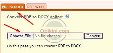 Pilih doc atau docx
