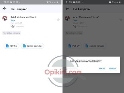 Cara Save Lampiran Yahoo Mail Android