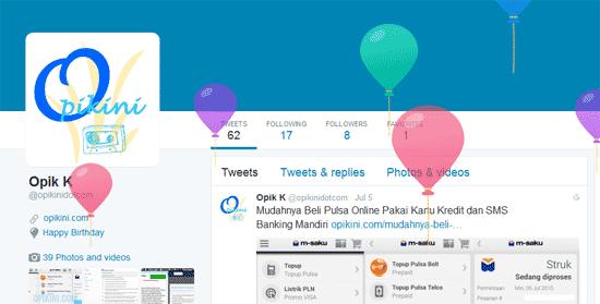Twitter Menambahkan Fitur Ulang Tahun