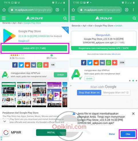 Cara Install Ulang Play Store