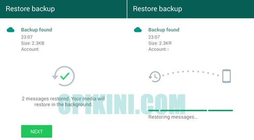 Cara Restore Atau Memulihkan Isi Percakapan WhatsApps Android Dari Google Drive