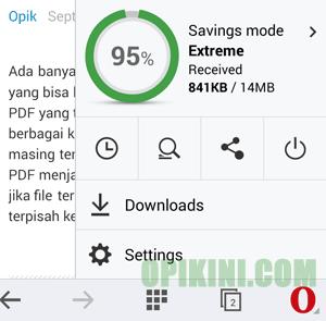 Cara Menghemat Kuota Internet Di Opera Mini Android