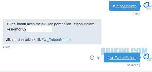 Cara Membeli Paket Nelepon, SMS dan Internet via DM Twitter