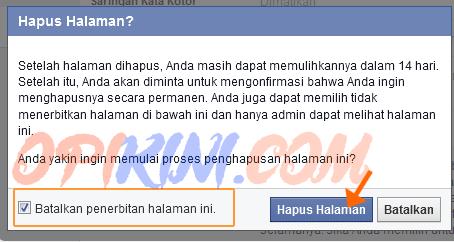 Cara Menghapus Halaman Facebook Atau Fb Page