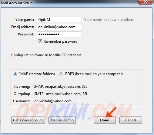 Cara Menambahkan Akun Email Yahoo di Mozilla Thunderbird