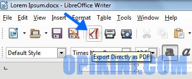 Cara Export atau Convert Word ke PDF Dengan LlibreOffice
