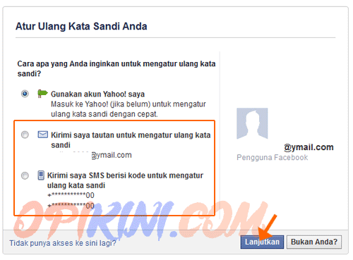 Cara Mengganti Password Facebook Lewat Email atau No HP (SMS)