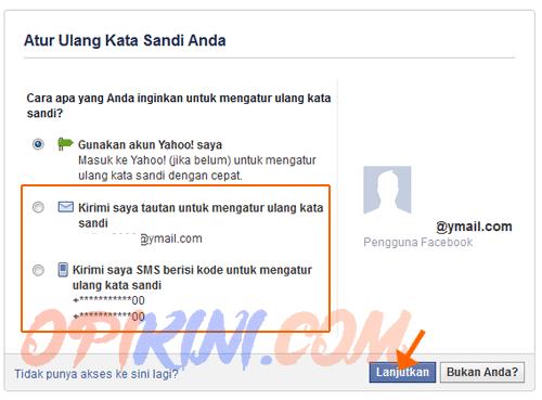 Cara Mengganti Password Facebook Lewat Email atau No HP (SMS)