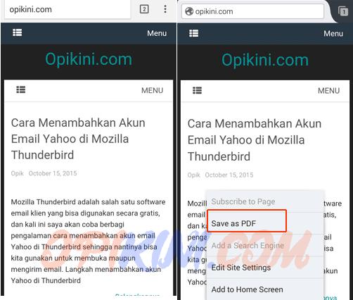 Cara Convert HTML ke PDF Dengan Firefox di HP Android