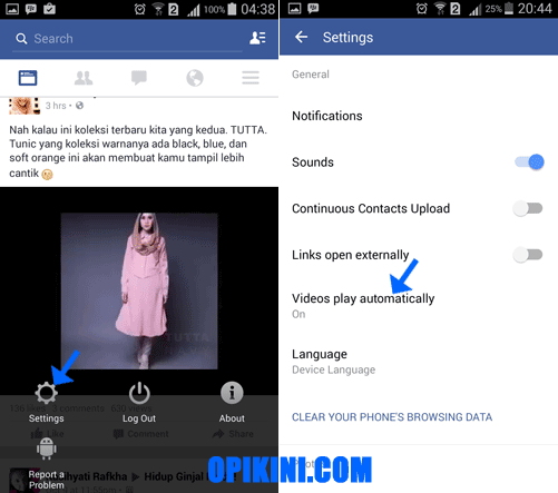 Cara Nonaktifkan Video Otomatis Diputar Facebook di Android