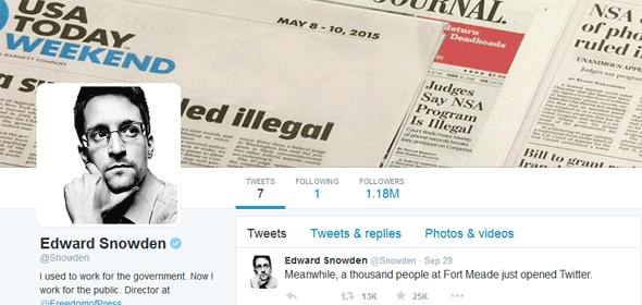 Dua Hari Buat Akun Twitter Edward Snowden Sudah Punya 1,18 Juta Pengikut