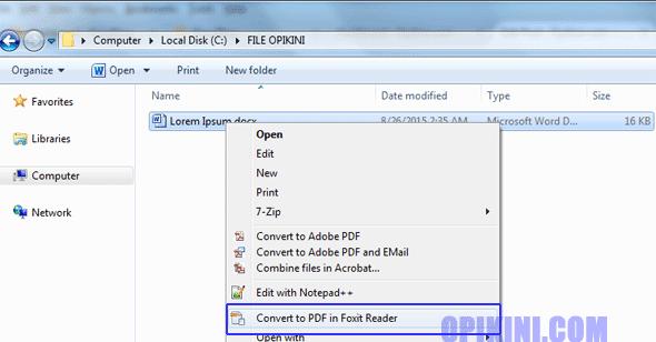 Cara Membuat File PDF Dengan Foxit Reader