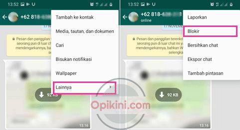 Cara Memblokir Kontak di WhatsApp Android