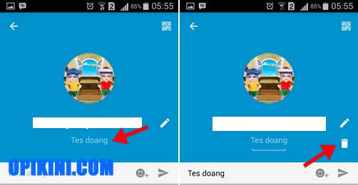 Cara Menghapus Status di BB Android