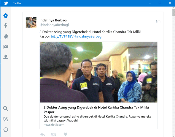 Mengakses Twitter di Windows 10 Dengan Aplikasi Twitter for Windows
