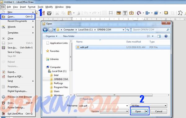 Cara Edit Teks Pada File PDF Dengan LibreOffice 5