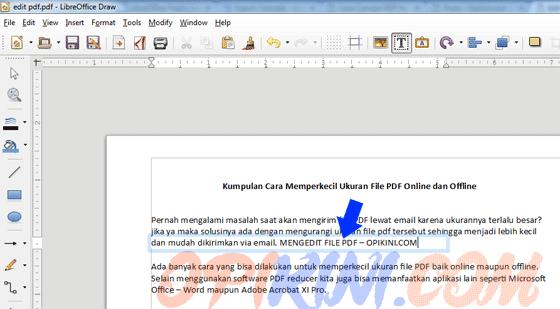 mengedit teks PDF