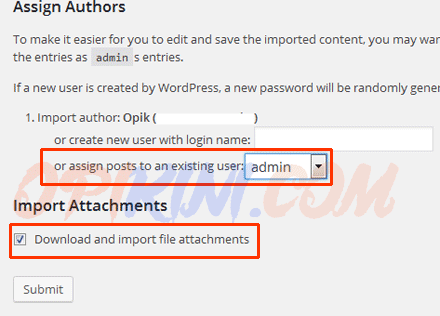 Download and import file attchments