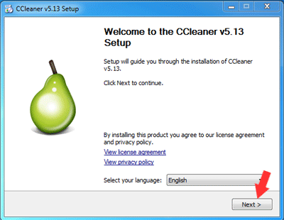 Cara Install CCleaner di Windows 7