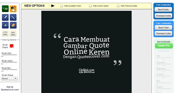 Cara Membuat Gambar Quote Online Keren Dengan Quotescover.com