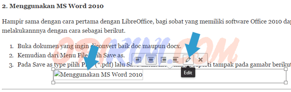 Gambar di Posting WordPress Blank