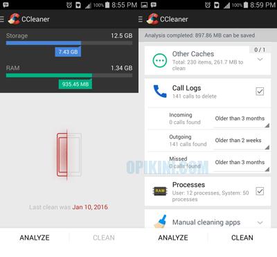 Cara Menggunakan CCleaner Untuk Android