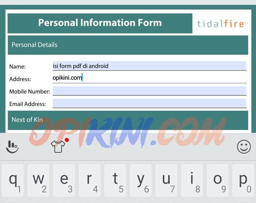 Mengisi Formulir PDF di Android