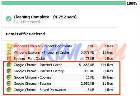 Solusi CCleaner v5.13 Tidak Bisa Hapus History Google Chrome