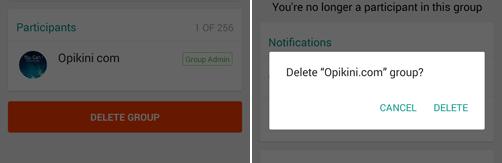Cara Delete atau Hapus WhatsApp Grup