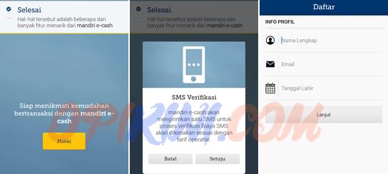 Mencoba Install, Daftar dan Upgrade Mandiri e-cash di HP Android