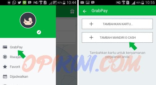 Cara Menambahkan Mandiri E-Cash Pada Aplikasi Grab