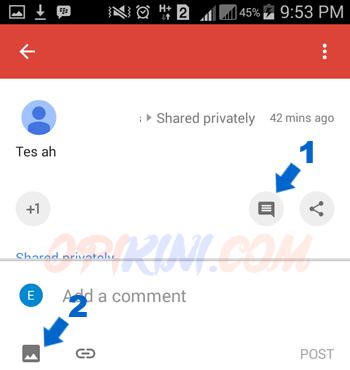 Cara Memposting Gambar Pada Komentar Google Plus
